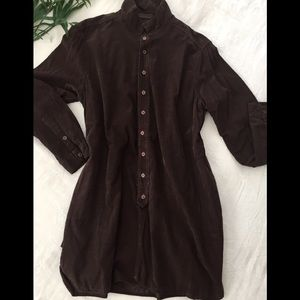 CP Shades Brown Pinwale Corduroy Tunic Size M